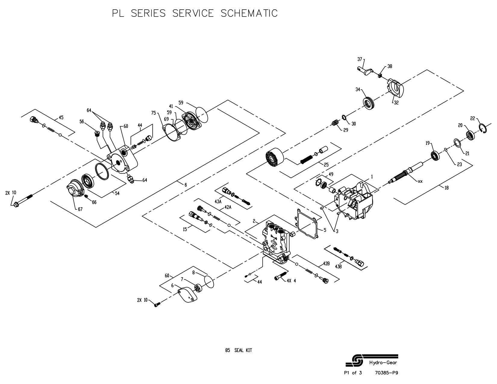 BDP-10L Pump parts